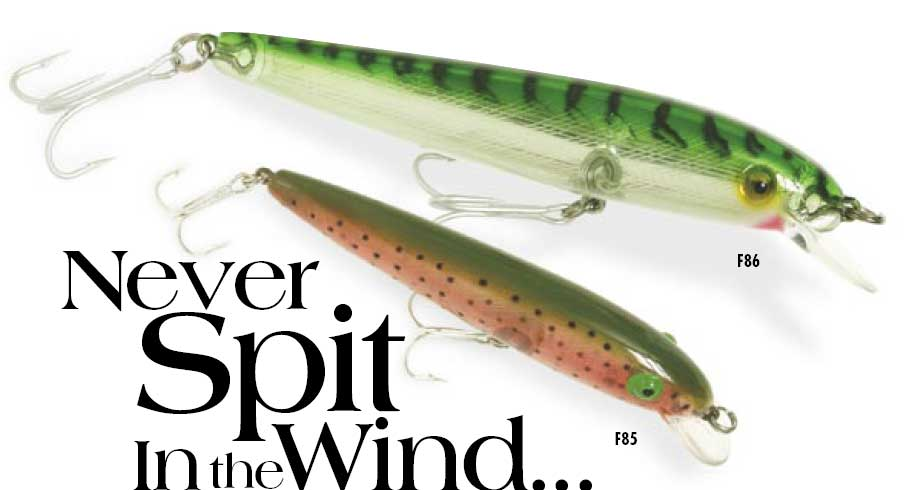Rebel windcheater minnow f86161 black 6 nip fishing lure for Rebel fishing lures
