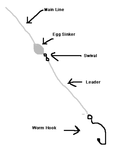 diagram of bass fishing line setup